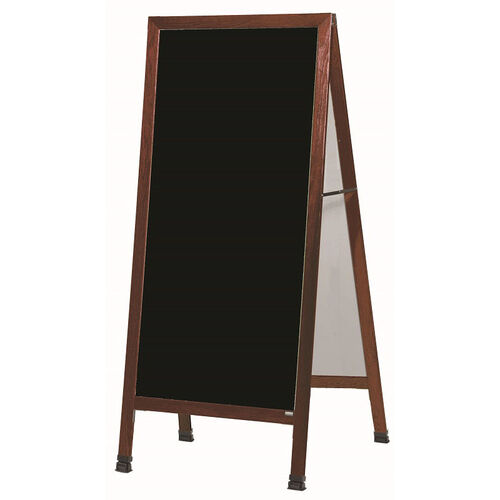 Our Extra Large A-Frame Sidewalk Board with Black Acrylic Board and Cherry Stain Finished Solid Red Oak Frame - 30