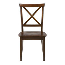 Taylor Cherry X-Back Chair with Wood Seat