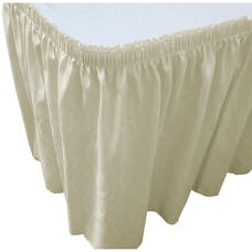 Wave 21 Foot Shirred Pleat Table Skirt with SnugTight™ Clips - Ivory
