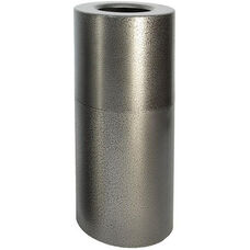 Aluminum Series 24 Gallon Two-Piece Receptacle with Plastic Liner - Silver Vein Finish