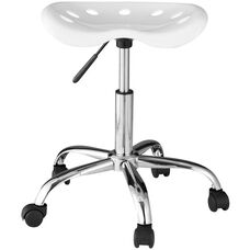 OneSpace Computer Task Chair with Tractor Seat - White