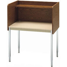 Single-Sided Adjustable Height Starter Study Carrel - 37