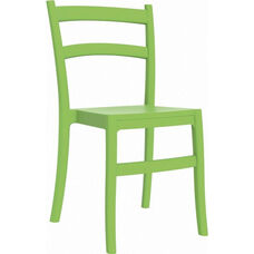 Tiffany Outdoor Resin Cafe Style Stackable Dining Chair - Tropical Green