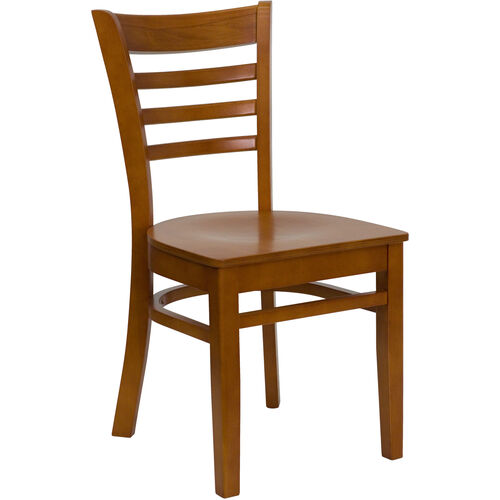 Our Cherry Finished Ladder Back Wooden Restaurant Chair is on sale now.
