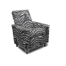 Kids Modern Micro-Suede Recliner - Zebra