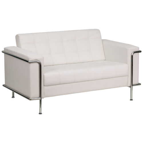 Our HERCULES Lesley Series Contemporary Melrose White LeatherSoft Loveseat with Encasing Frame is on sale now.