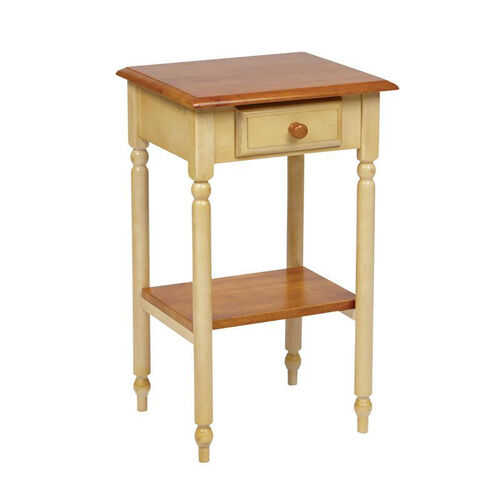 OSP Designs Country Cottage Telephone Table with Drawer and Storage Shelf