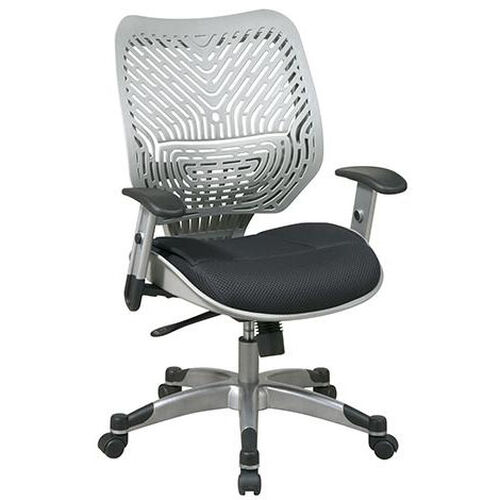 Our Space REVV Self Adjusting SpaceFlex Back and Mesh Seat Managers Chair with Adjustable Arms - Fog Back and Raven Seat is on sale now.