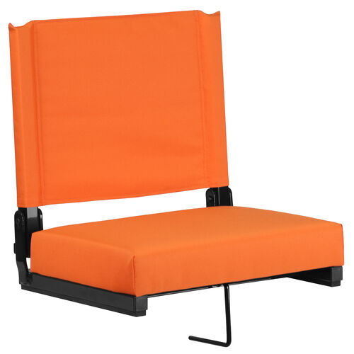 Our Grandstand Comfort Seats by Flash with Ultra-Padded Seat in Orange is on sale now.
