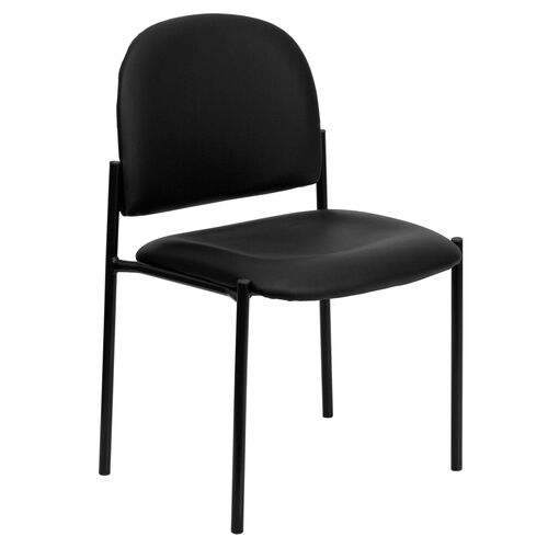 Our Comfort Black Vinyl Stackable Steel Side Reception Chair is on sale now.