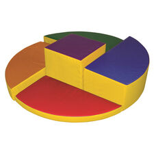SoftZone® Bright Colors Five Level Platform Rainbow Beginner Climber