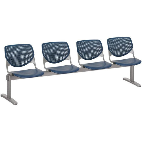 Our 2300 KOOL Series Beam Seating with 4 Poly Perforated Back and Seats with Silver Frame - Navy is on sale now.