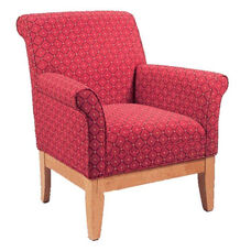 9430 Upholstered Lounge Chair w/ Wood Base - Grade 1