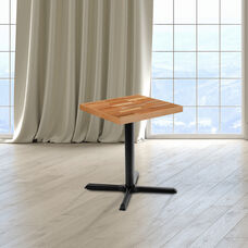Square Butcher Block Style Table Top
