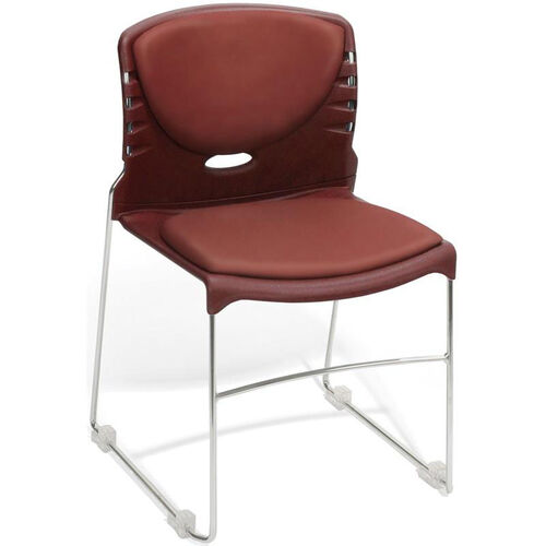 Our 300 lb. Capacity Stack Chair with Anti-Microbial and Anti-Bacterial Vinyl Seat and Back - Wine is on sale now.
