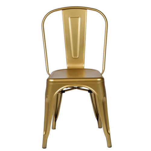 Our Oscar Steel Powder Coated Stackable Armless Chair - Set of 4 - Gold is on sale now.