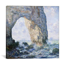 Rock Arch West of Etretat - The Manneport by Claude Monet Gallery Wrapped Canvas Artwork