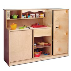 Preschool Kitchen Combo with Storage in Birch Plywood - 48.50