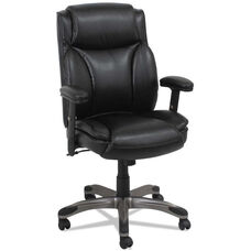 Alera® Veon Series Mid-Back Leather Manager