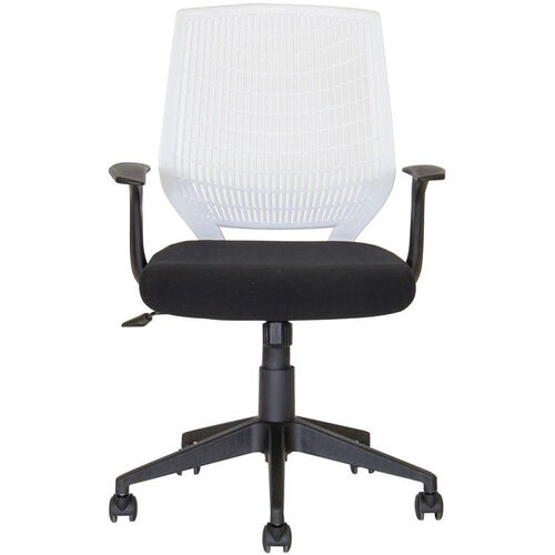 Our Flexo Task Chair with Arms and Poly Back - White Back and Black Seat is on sale now.