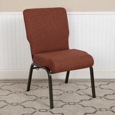 Advantage 20.5 in. Cinnamon Molded Foam Church Chair with Book Rack