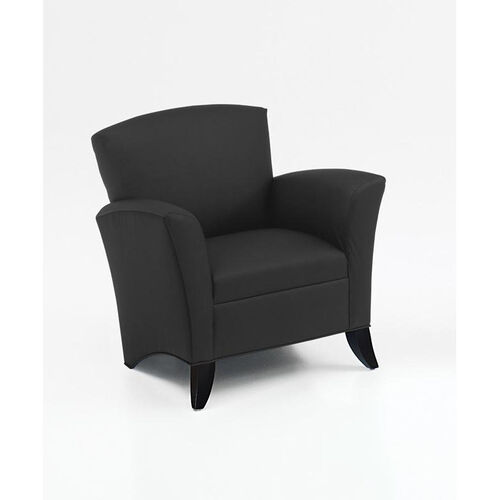 Our Monza Contemporary and Transitional Side Chair - Black Simulated Leather is on sale now.