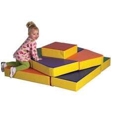 SoftZone® Bright Colors Tri-Level Stand Alone Beginners Climber Play Center