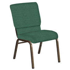 Embroidered 18.5''W Church Chair in Interweave Aspen Fabric - Gold Vein Frame