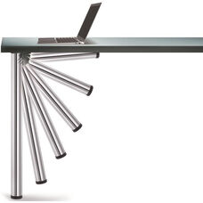 Chrome Push-Button Single Foldable Table Leg with Mounting Hardware - 27.75