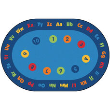 Kids Value Early Learning Oval Nylon Rug - 96