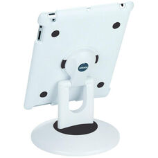 ViewStation for Various Generation iPads - White Shell with White and Black Base