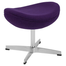 Purple Wool Fabric Ottoman