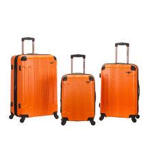 Rockland 3 Pc. Sonic Abs Plastic Upright Set - Orange