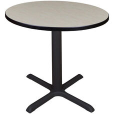 Cain 30'' Round Laminate Breakroom Table with PVC Edge - Maple
