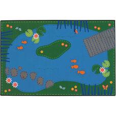 Kids Value Tranquil Pond Rectangular Nylon Rug - 36
