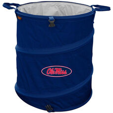 University of Mississippi Team Logo Collapsible 3-in-1 Cooler Hamper Wastebasket