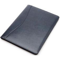 Writing Padfolio Document Organizer - Aristo Bonded Leather - Blue