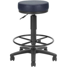 Anti-Microbial and Anti-Bacterial Vinyl UtiliStool with Drafting Kit - Navy
