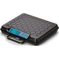 Steel Portable Bench Scale with Built in Handle and LED Display - 250 lb Capacity