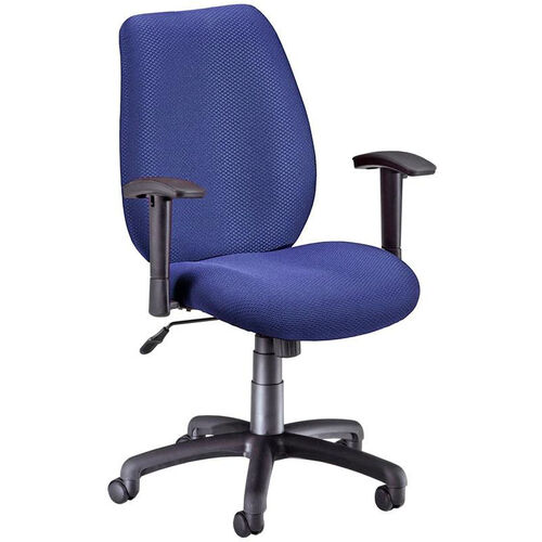 Ergonomic Upholstered Managers Task Chair with Arms- Ocean Blue