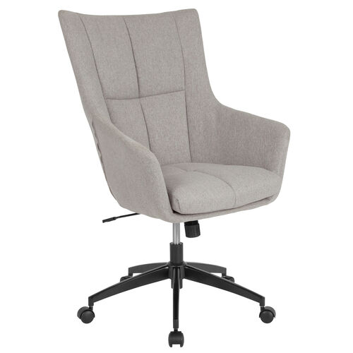 Our Barcelona Home and Office Upholstered High Back Chair in Light Gray Fabric is on sale now.