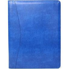 Writing Padfolio Document Organizer - Aristo Bonded Leather - Malibu Blue