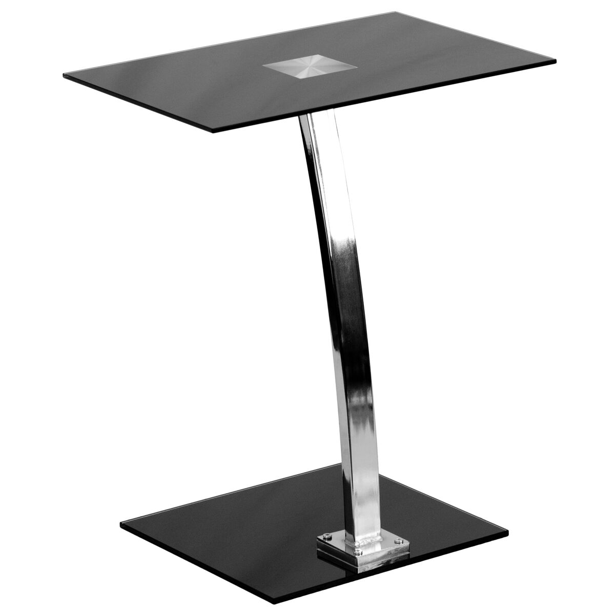 Our Laptop Computer Desk With Silk Black Tempered Glass Top Is On Now