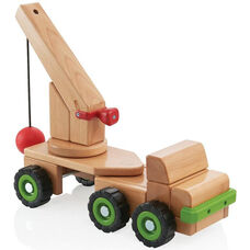 Big Block Wrecking Ball Truck with Removable Articulating Trailer and Large Wooden Crane - 18