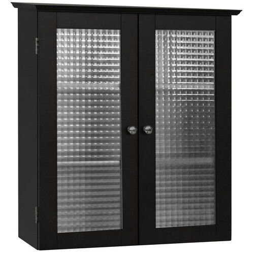 Our Chesterfield Wall Cabinet with Two Glass Doors - Espresso is on sale now.