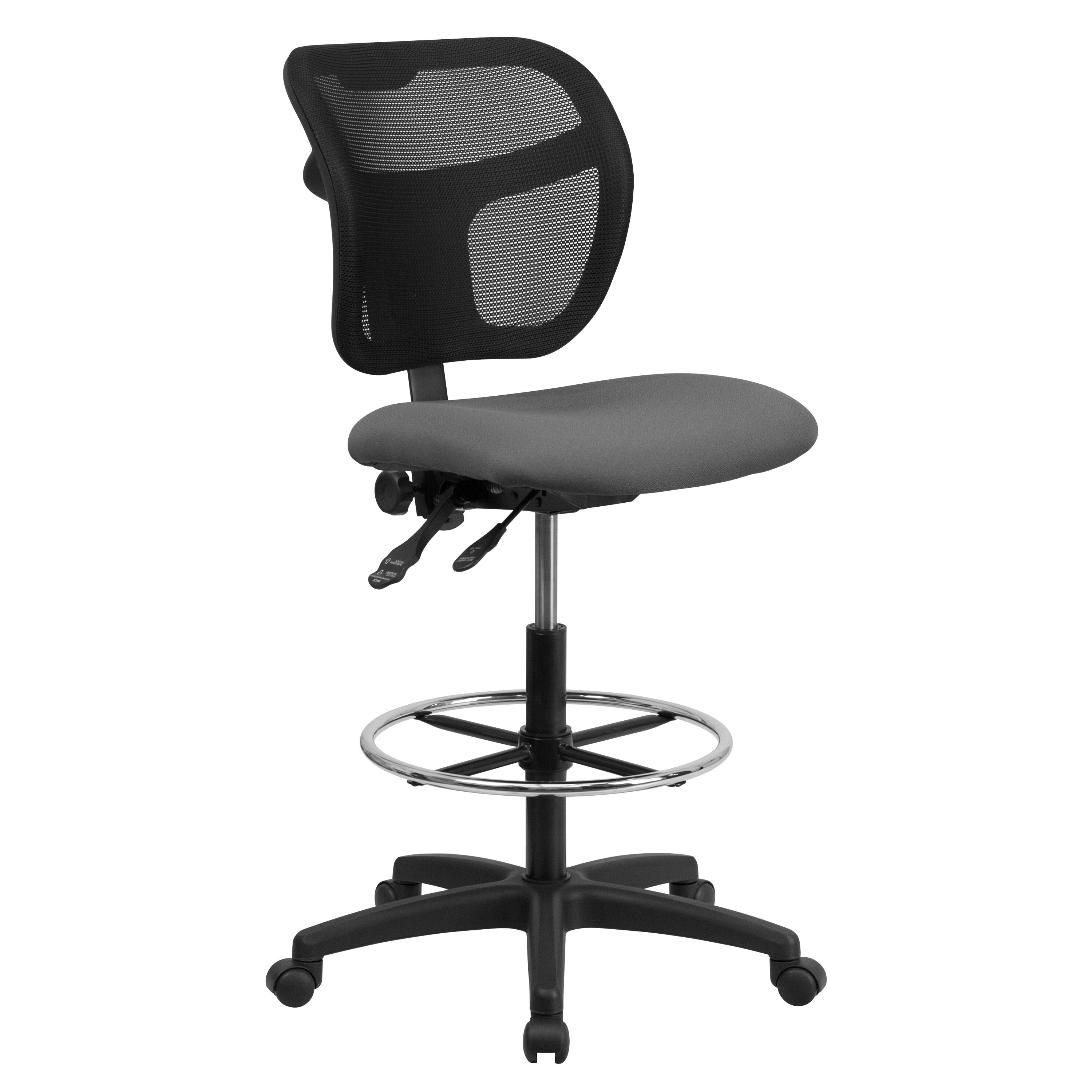 Merveilleux Our Mid Back Gray Mesh Drafting Chair With Back Height Adjustment Is On  Sale Now