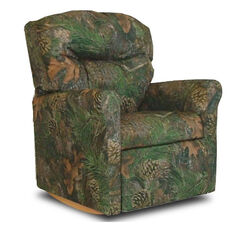 Kids True Timber Fabric Contemporary Rocker Recliner with Tufted Back - Camo Green