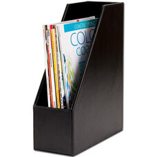 Bonded Leather Magazine Rack - Black