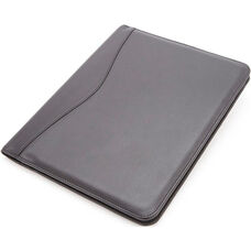 Deluxe Writing Padfolio - Faux Leather - Black