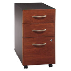 Series C Three Drawer Mobile Pedestal File - Hansen Cherry and Graphite Gray